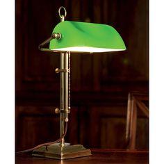 Berliner Messing Bankers Lamp