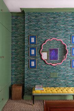 Luke Edward Hall and Duncan Campbell's London Bedroom Pale Pink Bedrooms, Pink Bedroom Walls, Koi, Edward Hall, Farrow And Ball Paint, Farrow Ball, Room London, Hall Design, Home Renovation