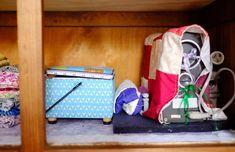 Organising sewing supplies Home Organisation, Organization, Hemming Jeans, Sewing Table, Organising, Storage, Tools, Blog, Getting Organized