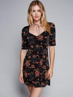 Megan Williams || FP Up All Night Mini Dress (Black Combo)