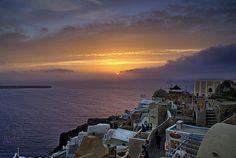 sunset in santorini by maha alasfour on 500px