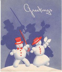 Christmas card 1940s-50s.