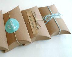 54 Etiquettes cadeaux kraft autocollantes handmade : Emballages, paquets cadeaux par 23-bis