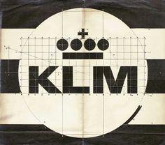 Xerox of KLM logo, design Henrion, original unknown, collection Bakker Identity Art, Identity Design, Visual Identity, Corporate Identity, Brand Identity, 2 Logo, Logo Branding, Typography Poster, Graphic Design Typography