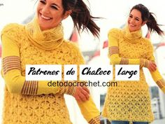 Knit and enjoy knitting Crochet Letters Pattern, Crochet Doily Patterns, Crochet Diagram, Crochet Doilies, Crochet Poncho, Diy Crochet, Crochet Top, Crochet Hats, Crochet For Dummies