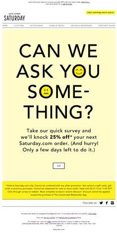 Email Survey Template   49 Best Email Surveys Images On Pinterest Email Newsletter