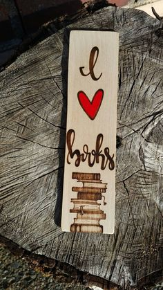 Check out this item in my Etsy: www.MarkedByMary.etsy.com !! • • • I love books, bookmark, wood bookmark, wooden bookmark, bookmarks, calligraphy, modern calligraphy, handlettered, handpainted, woodburn, bookstagram, book lover, book nerd, books,