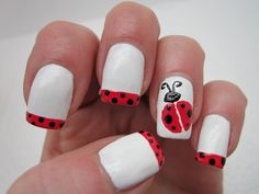Creative Nail Design by Sue: April Showers bring May Flowers Challenge #2-Ladybugs