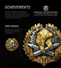 Achievements are awarded to players for exceptional performance in battle. Medals and titles are attached to the player's own statistics as well as individually for tanks and crew members. To see your own achievements, simply go to the statistics in game …