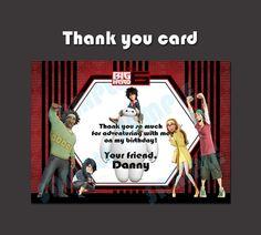 Printable Disney Big Hero 6  Party Movie Theme Thank by PeekaOwl