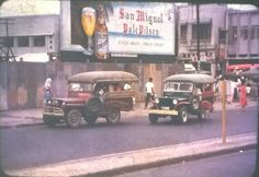 Manila Street Scene. March 1955. Vintage Pictures, Old Pictures, Subic Bay, Philippines Culture, Filipiniana, Thing 1, Old Advertisements, Pinoy, Cool Photos