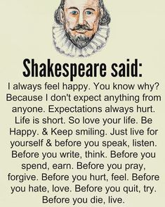 The wisdom of Shakespeare - wisdom quotes Wise Quotes, Words Quotes, Great Quotes, Motivational Quotes, Funny Quotes, Wisdom Sayings, Couple Quotes, Awesome Quotes, Deep Life Quotes