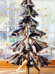 old magazine christmas tree by tai-ran tseng