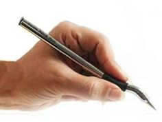 Swan Neck Pen: With a curved grip and tip which permit lefties to write comfortably and see what they are writing while avoiding smears. Good for right handed users too. Find it here http://tinyurl.com/69o98f3 $22.95 for aluminum, $6.45 for colored plastic. #Pen #Swan_Neck _Pen