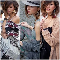Different accesories with different outfits.