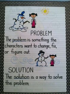Problem & Solution anchor chart