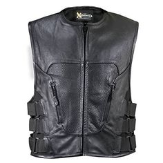 Special Offers - Xelement Mens XS-1467 Stripped Black Leather Biker Vest  Large - In stock & Free Shipping. You can save more money! Check It (June 29 2016 at 07:34AM) >> http://motorcyclejacketusa.net/xelement-mens-xs-1467-stripped-black-leather-biker-vest-large/
