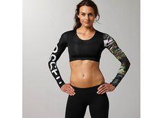Reebok Women's Reebok CrossFit Compression Crop Top Long Sleeve Tops | Official Reebok Store
