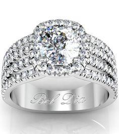 Multi-band diamond engagement ring.