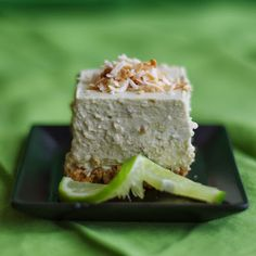 No Bake Avocado Lime Cheesecake by withinthekitchen #Cheesecake #Avocado #LIme #No_Bake