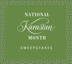 I just entered Karastan's #NKM2017 Sweepstakes for a chance to win one of two custom sized rugs! Click on this link to enter and get a $1000 back coupon.