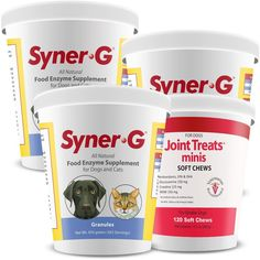 3PACK SynerG Digestive Enzymes Granules (1362 g)   FREE Joint Treats Minis -- You can find more details by visiting the image link. (This is an affiliate link and I receive a commission for the sales) #MyDog
