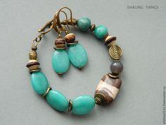 Fashion Bracelets, Jewelry Bracelets, Jewelery, Jewelry Sets, Jewelry Making, Circlet, Turquoise Color, Earring Set, Turquoise Bracelet