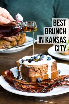 Looking for a place to start your Saturday and Sunday mornings? Try the top ten spots for Kansas City brunch, including Westport Cafe and Bar and Happy Gillis! (Things To Try Bucket Lists) Kansas City Missouri, Kansas City River Market, Kansas City Bars, Kansas City Plaza, Oklahoma City, Brunch Cafe, Sunday Brunch, Best Brunch Places, American Dreams