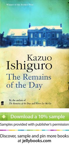 'The Remains of the Day' by Kazuo Ishiguro - 1989 winner of the Man Booker