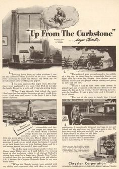1940s vintage CHRYSLER PLYMOUTH Auto Dealer CAR Wash STORY Success CHARLIE Ad