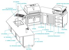 Delicieux [ Sample Outdoor Kitchen Plan Bistro Layout Diy Kitchen Cabinets Drawers Building  Kitchen Island ]   Best Free Home Design Idea U0026 Inspiration