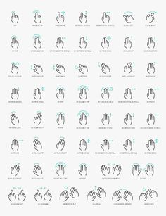 free vector psd gesture icons