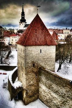 Tallinn, Estonia.... Tallinn [1], the capital of Estonia, lies on the southern coast of the Gulf of Finland, only 70 km (43 mi) south of Helsinki.