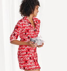 Holiday Cotton Night Shirt  Reg. $24.99  Sale $14.99  SAVE 40% While Supplies Last