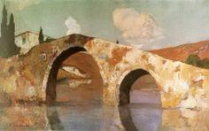 the Bridge Economou Michalis Greek Art, First Art, Art School, Impressionist, Greece, Gallery, Pictures, 2d, Bridge