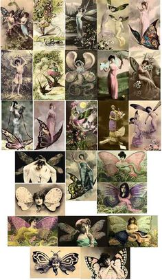 Everything Vintage Fantasy Women of Copyright Free Images to Download