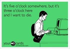 5 o'clock vs. 3 o'clock