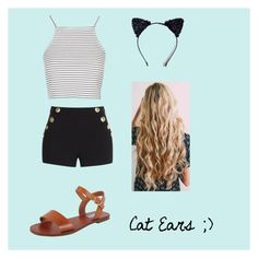 """""""Cat Ears"""" by jjallstar ❤ liked on Polyvore featuring Steve Madden, Topshop, Boutique Moschino and Masquerade"""