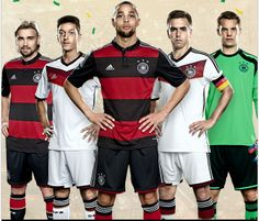 Germany Home and Away Kits World Cup 2014 #Germany #WorldCup