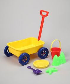 Take a look at this Beach Wagon Set by Big Lots on #zulily today! $7.99, regular 12.00