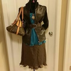 Teal and burnt orange jewel of neck halter A bundle of 2 Fabulous sheer halter camis. That will take you from work to after 5 settings effortlessly. Tops