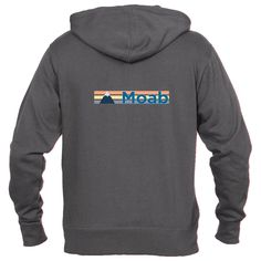 Moab, Utah Retro Mountain - Men's Full-Zip Hooded Sweatshirt/Hoodie