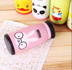 Cute Cartoon Travel Thermos Vacuum Cup Mug Flask Stainless Steel Water Bottle   #Unbranded