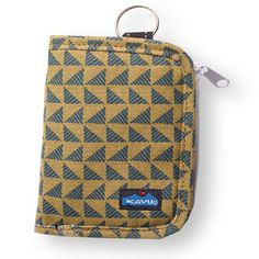 """Kavu Zippy Wallet - Pine Angle.  Snap closure, removable zip coin pouch with key loop, multiple internal cash, card, ID slots. Dimensions (folded): 4"""" x 5"""". Dimensions (unfolded): 8"""" x 5"""". Fabric: 12oz cotton canvas. Shop in store at The Handbag Store in Hill City SD or online at www.shopthehandbagstore.com"""