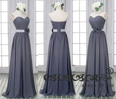 Gray Bridesmaid Dress,long bridesmaid dresses,chiffon Bridesmaid dresses with Sweetheart Neckline,custom color bridesmaid dresses. About This long Grey Bridesmaids, Grey Bridesmaid Dresses, Bridal Dresses, Prom Dresses, Formal Dresses, Formal Wear, Stunning Wedding Dresses, Beautiful Gowns, Boho Wedding