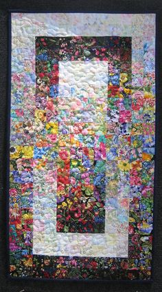 Art Quilt Small Window Garden by TahoeQuilts on Etsy
