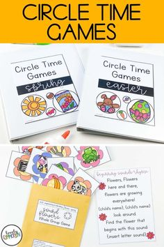 Circle Time Games, Circle Game, Preschool Learning Activities, Preschool Class, Letter Identification, Early Reading, Spring Theme, Group Games, Love To Meet
