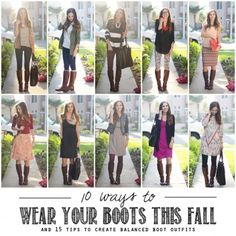 10 Ways to Wear Your Boots This Fall - love these creative looks!