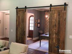 Double Door Sliding Barn Door Hardware Roller Kit MADE IN | Etsy