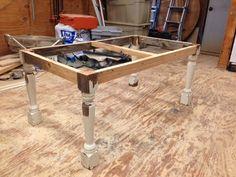 child size harvest table legs and framework